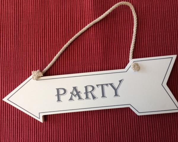 party-schild